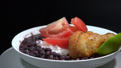 Cuban Cuisine: White Rice and Black Beans Soup
