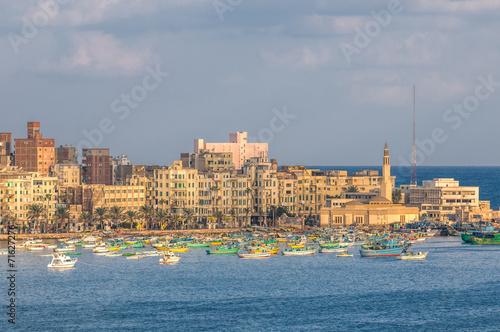 Foto op Aluminium Egypte View of Alexandria harbor, Egypt