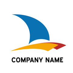 Vector logo catamaran, yacht and boat