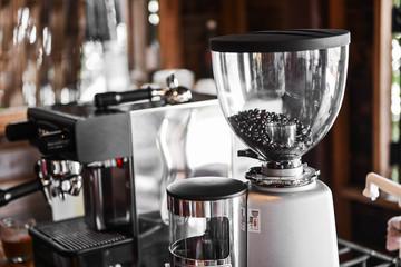 Coffee maker in coffee shop