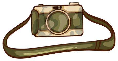 A coloured sketch of a photographer's camera