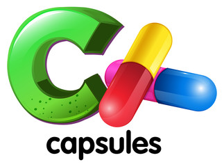 A letter C for capsules