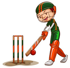 A male cricket player