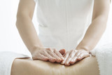 Esthetician to massage the waist poster