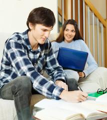 students doing homework together