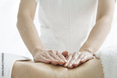 poster of Esthetician to massage the waist
