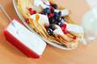 breakfast. Sweet pancakes with berries
