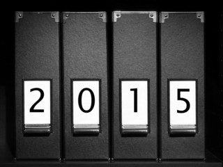 Four binders with 2015 digits