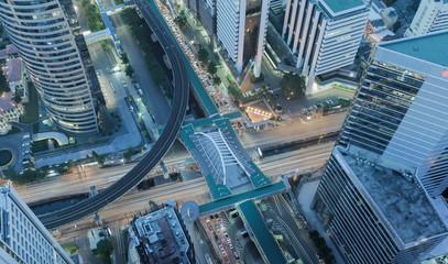 X Cross cityscape Bangkok city center, Abstract