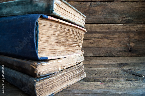A Stack of old books - 71629296