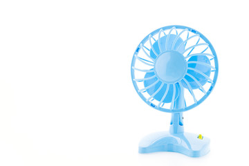 Electronic air fan isolated on white background