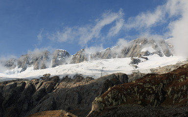 panorama nell'alta valle di Goschenen - Svizzera