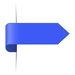 Lesezeichen blau
