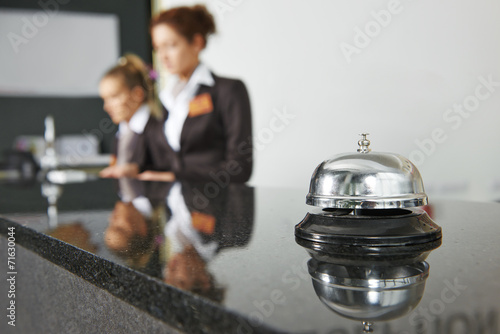 Hotel reception with bell - 71630044