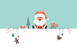 Santa Glasses & Symbols Retro