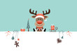 Reindeer & Symbols Retro