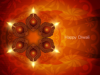 Religious background design for Diwali