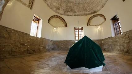 Ancient tomb of Sari Saltik in the old city of Babadag ,Romania