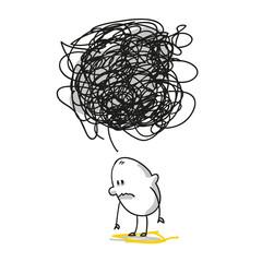 Trauriges Strichmännchen