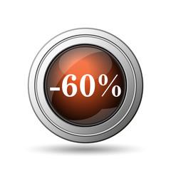 60 percent discount icon