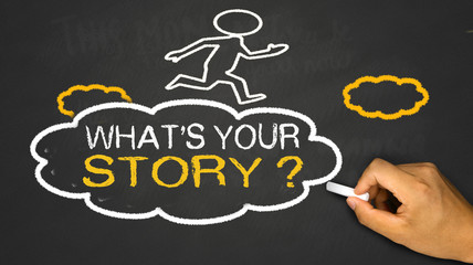 what's your story concept on chalkboard background