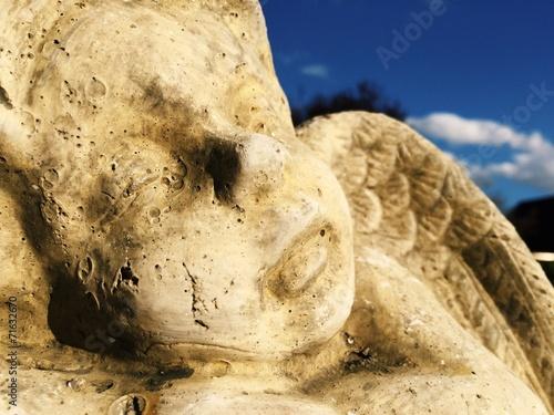 canvas print picture Engel als Statue