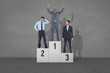 Composite image of business people on podium