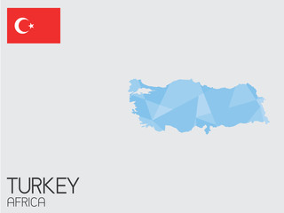 Set of Infographic Elements for the Country of Turkey