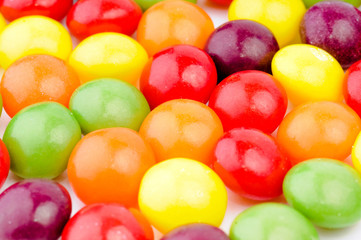 Colorful candy sweets closeup