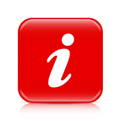 Red information button, icon