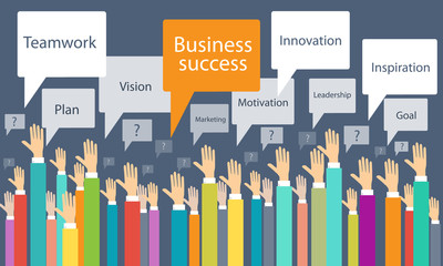 Vector business success process background