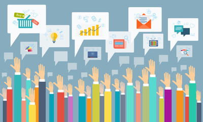 vector social business communication