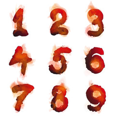 English  burning numbers