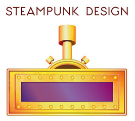 element in steampunk style