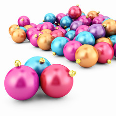 Christmas card - Balls isolated