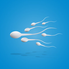 Vector illustration sperm movement