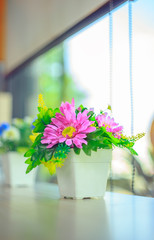 decoration artificial pink flower