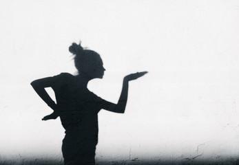 Pretty girl showing Egyptian dance