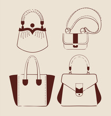 collection of woman bags for day and evening