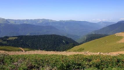 Mountain view Gagra Range.