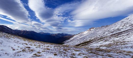 Вид с перевала Умпырь на долину реки Большая Лаба