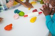 Children doing arts and crafts - 71636203