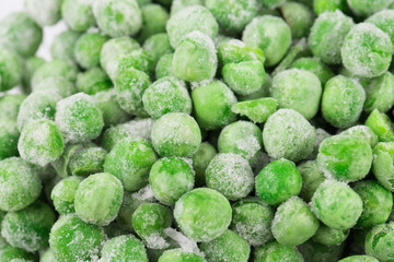 Green Frozen peas background