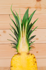 Half of Fresh ripe pineappl