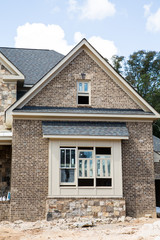 Freshly Painted Window in New Brick Home
