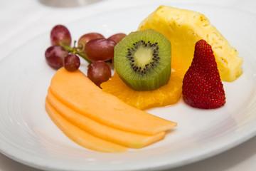 Kiwi on Fruit Plate