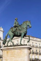 statue of King Charles III, Madrid