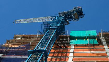 nyc crane tower at work