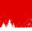 Winter Weihnachten Bäume rot