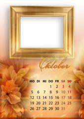 Kalender 2015 deutsch alle bundesländer OKTOBER DIN A4